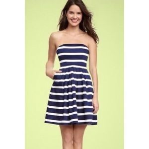 Gap | Navy and White Striped Party Dress Size 2